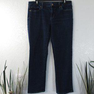 Womens Mid Rise Straight Leg Jeans Sz 10 Petite